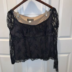 MCLINTOCK COLLECTION LACE CROP TOP (BB5)